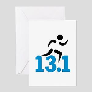 Half marathon 13.1 miles Greeting Card