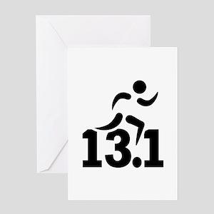 Half marathon runner Greeting Card