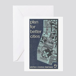 City Stamp Greeting Cards