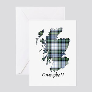 Map-Campbell dress Greeting Card