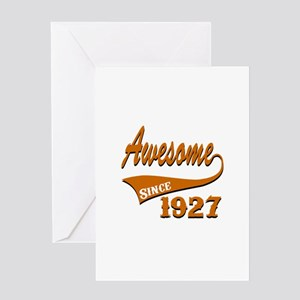 Awesome Since 1927 Birthday Designs Greeting Card