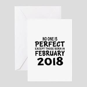 February 2018 Birthday Designs Greeting Card