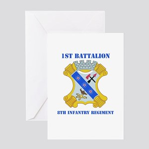 DUI - 1st Bn - 8th Infantry Regt with Text Greetin