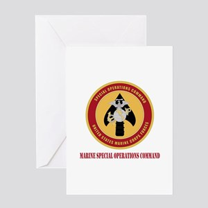 Marine Special Ops Cmd with Text Greeting Card