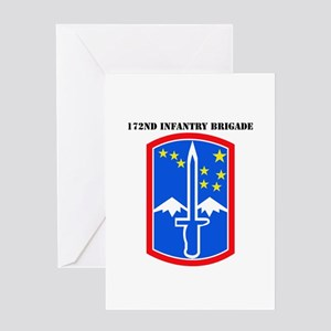 SSI-172nd Infantry Brigade with text Greeting Card