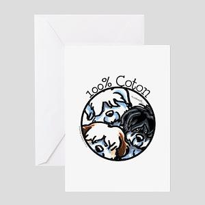 100% Coton Greeting Card