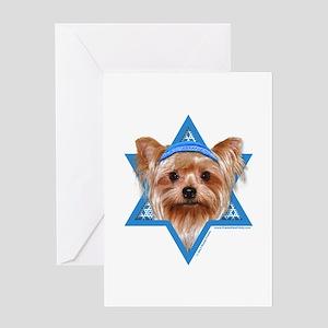 Hanukkah Star of David - Yorkie Greeting Card