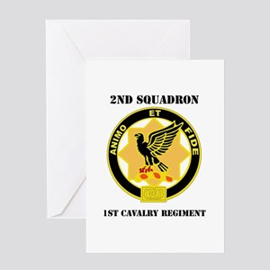 DUI - 2nd Sqdrn - 1st Cavalry Regt with Text Greet