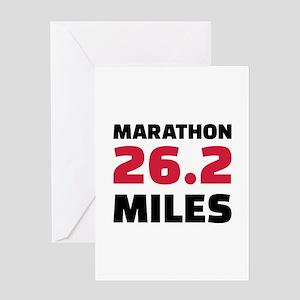 Marathon 26 miles Greeting Card