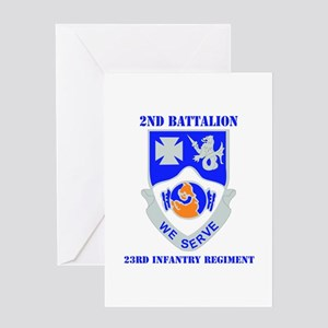 DUI - 2nd Bn - 23rd Infantry Regt with Text Greeti