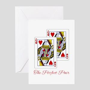 Perfect Pair QQ Greeting Card