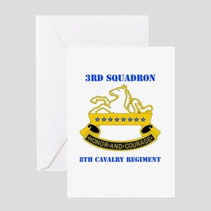 DUI - 3rd Sqdrn - 8th Cavalry Regt with Text Greet