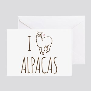 I Love Alpacas Greeting Card