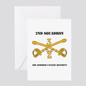 DUI - 2nd Squadron - 3rd ACR with text Greeting Ca
