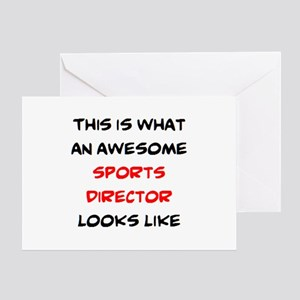 awesome sports director Greeting Card