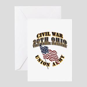 20th Ohio Volunteer Infantry Greeting Card