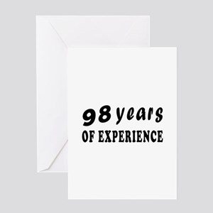 98 years birthday designs Greeting Card
