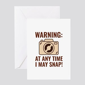 I May Snap Greeting Card