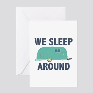 We Sleep Around Greeting Card