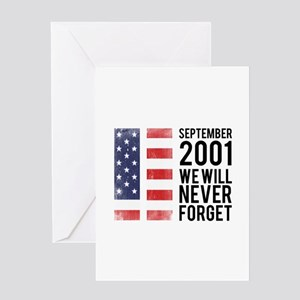 9 11 Remembering Greeting Card