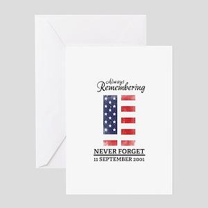 9 11 Remembering Greeting Card