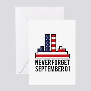 9 11 Never Forget Greeting Card