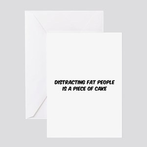 Distracting fat people Greeting Card