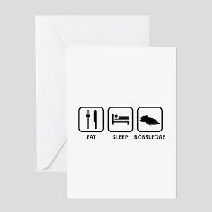 Eat Sleep Bobsledge Greeting Card