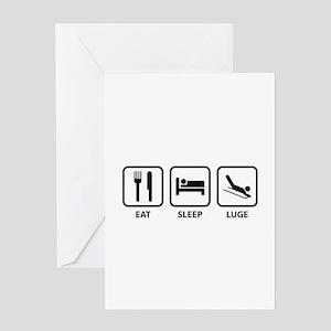 Eat Sleep Luge Greeting Card