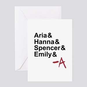 Aria & Hanna & Spencer & Emily & A Greeting Card