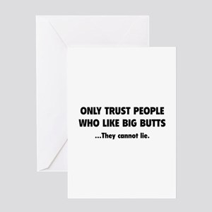 Only Trust People Greeting Card