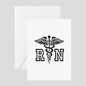 RN Nurse Caduceus Greeting Cards