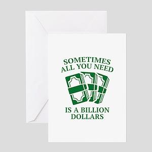 A Billion Dollars Greeting Card
