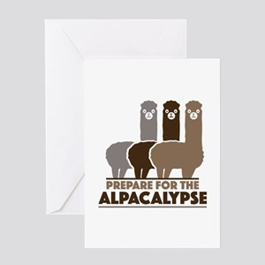 Prepare For The Alpacalypse Greeting Card