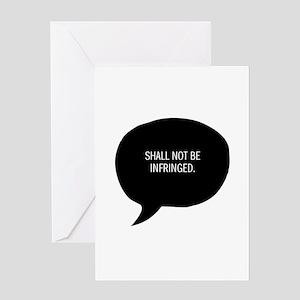 second amendment Greeting Cards