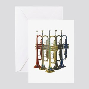 Trumpets Multi Greeting Card