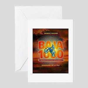 Baja 1000 Motocross Greeting Card