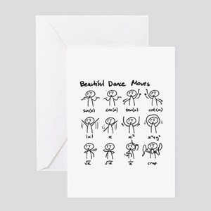 Beautiful (math) dance moves Greeting Cards