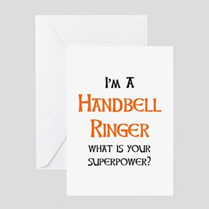 handbell ringer Greeting Card