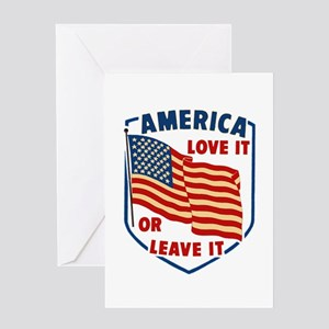 America Love it Greeting Card