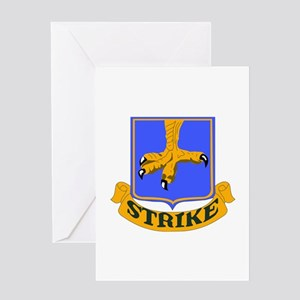 DUI - 2nd Bn - 502nd Infantry Regt Greeting Card
