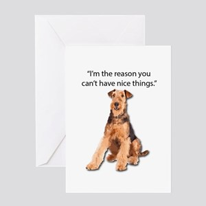 Airedales: Why you can't have nice Greeting Cards