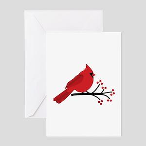 Christmas Cardinals Greeting Cards