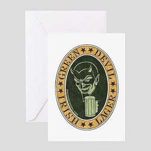 green-devil-ale-T Greeting Card