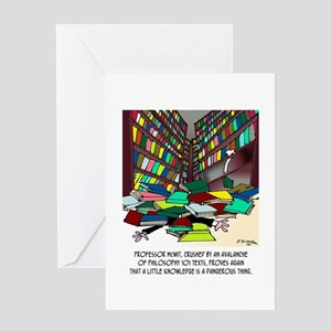 Philosophy Texts Are Dangerous Greeting Card