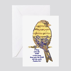 Psalm 96:1 Sing Unto The Lord Song Greeting Cards
