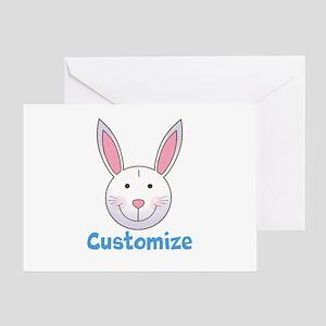 Custom Easter Bunny Greeting Card