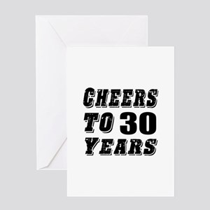 Cheers To 30 Greeting Card