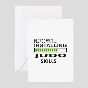Please wait, Installing Judo Skills Greeting Card