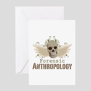 Forensic Anthropology Greeting Card